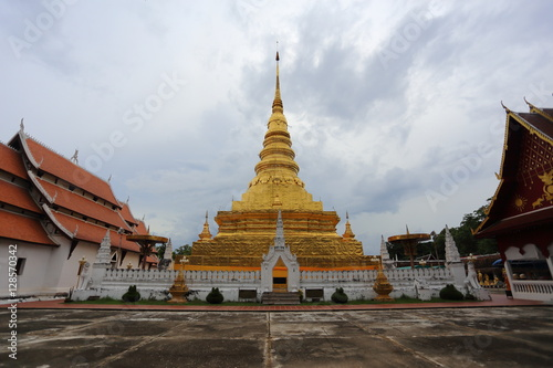Staande foto Temple Wat Phra That Chae Haeng Temple in Nan,Thailand