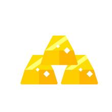 Three Gold Ingots Icon