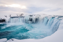 Godafoss Waterfall In Iceland ...