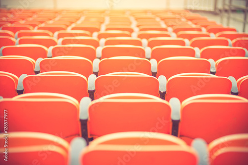 Photo  seats in a football stadium. Championship, football, places for