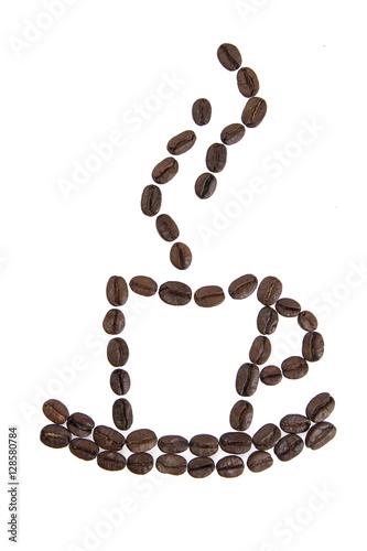 Fotobehang Koffiebonen cup of coffee