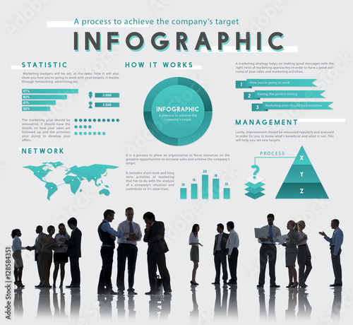 Photo  Infographic Global Business Marketing Plan Concept