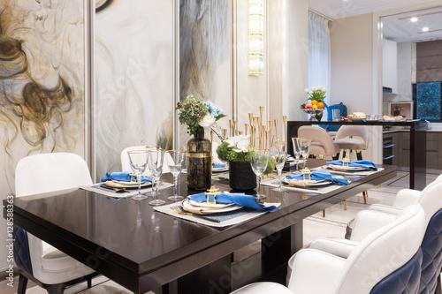 interior of modern dining room Poster