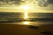 Sunset at sea ,beach background