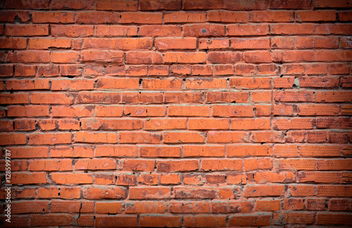 Foto op Plexiglas Wand Retro red brick Wall background.