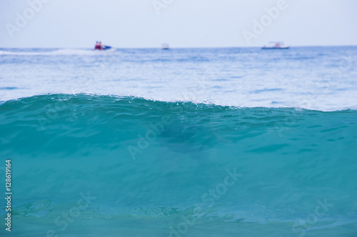 Poster Turquoise Turquoise waves of the South China sea on Hainan island