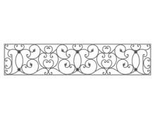 Black Forged Decorative Lattice Isolated On White Background