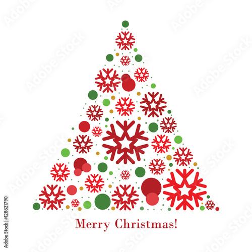 Christmas Tree Card Vector Buy This Stock Vector And Explore