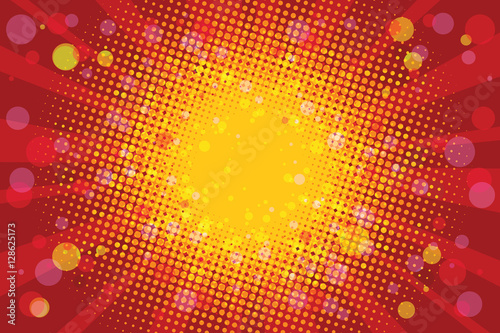 Canvas Print Warm Sunny carnival background