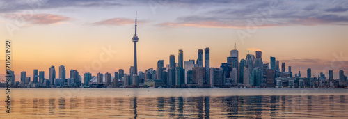 Fotobehang Toronto Toronto Skyline with orange light- Toronto, Ontario, Canada