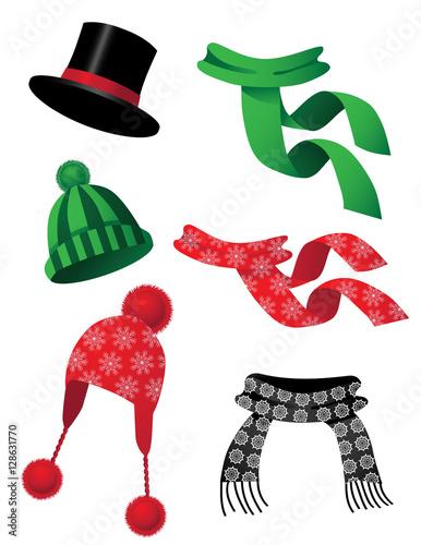 Fotografie, Obraz  Hats and scarves