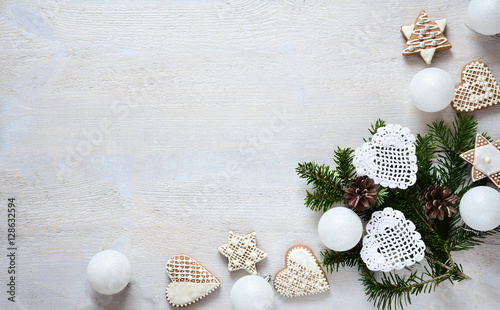Fotografie, Tablou  Christmas white decoration