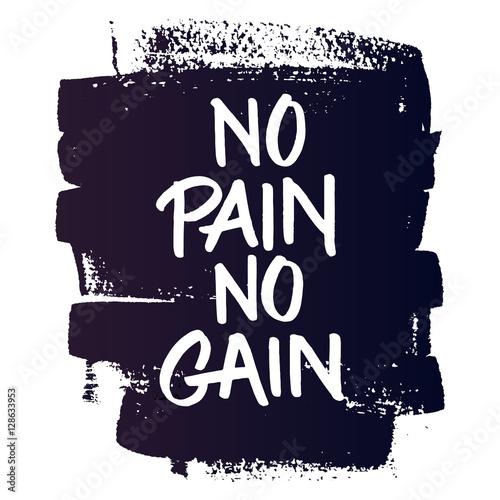 Fotografie, Obraz  No pain no gain