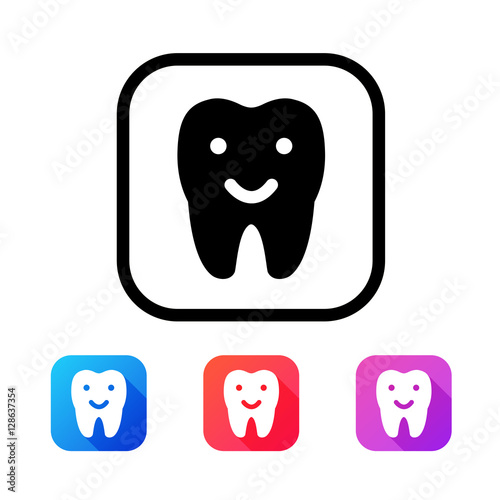 Dental icon in flat style #128637354