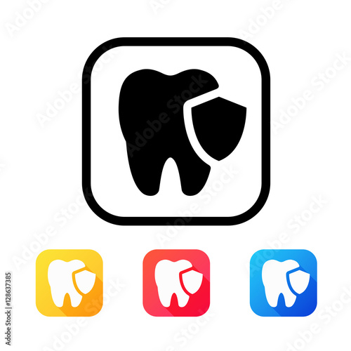 Dental icon in flat style #128637385