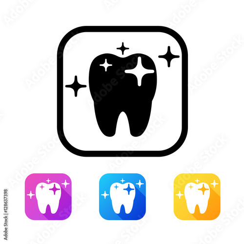 Dental icon in flat style #128637398