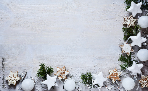 Christmas white decoration