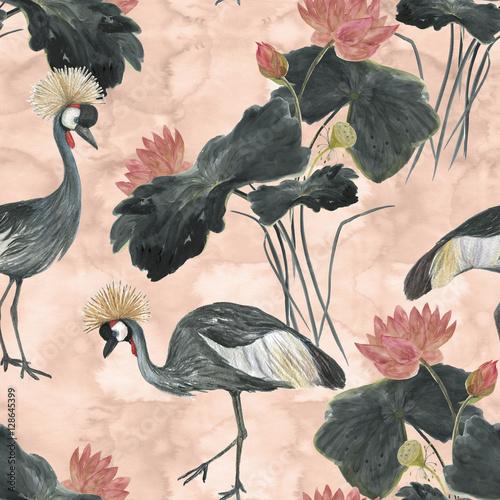 chinskiego-malarstwa-bezszwowy-wzor-z-lotus-i-szarosc-koronowal-zurawie-malarstwo-w-stylu-azjatyckim