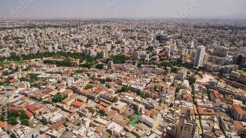 In de dag Noord Europa Aerial view of Nicosia, southern part
