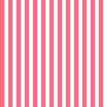 Seamless Pattern With Pink And White Vertical Stripes