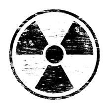 Grungy Radiation Symbol