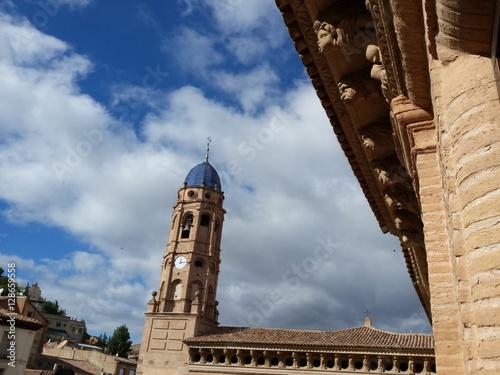 Palacio de los condes de Argillo en morata de jalon Canvas Print