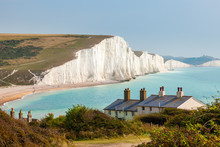 Seven Sisters Chalk Cliffs From Seaford Head
