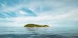 Leinwandbild Motiv Tropical caribbean island in open ocean