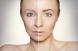 canvas print picture revitalization concept face before and after