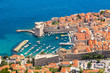 Aerial view of old city Dubrovnik