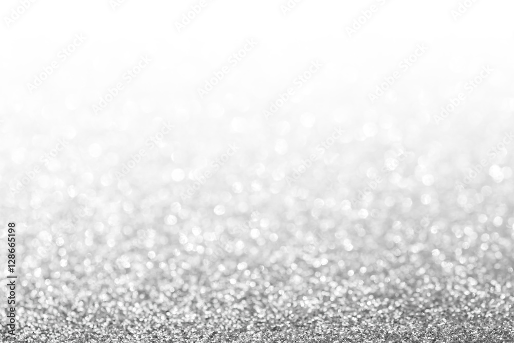 Fototapety, obrazy: Abstract glitter silver background