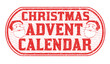 Christmas advent calendar sign or stamp