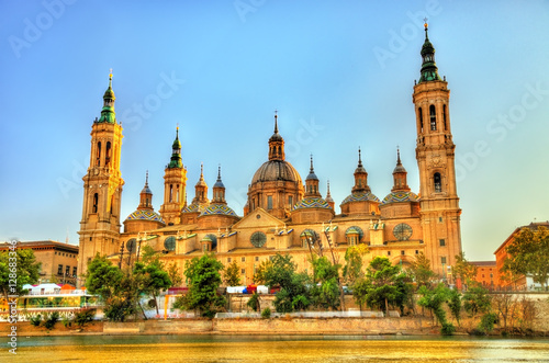 Basilica Our Lady of the Pillar in Zaragoza, Spain