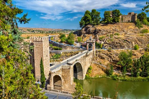 The Alcantara Bridge in Toledo, Spain Canvas Print