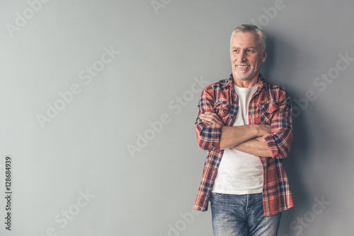 Handsome mature man
