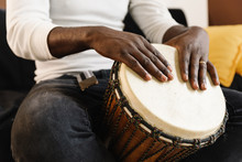 Musician Playing Drum.