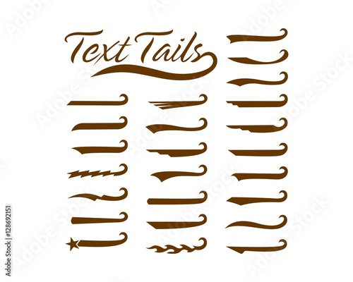 Text tails Wall mural