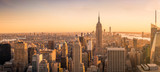 Fototapeta Nowy Jork - New York City skyline panorama at sunset
