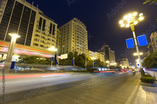 Foto op Canvas Guilin Guilin city road at night