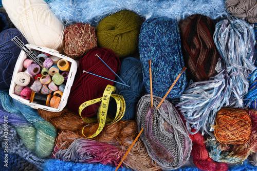 Fotografie, Obraz  Knitting Still Life