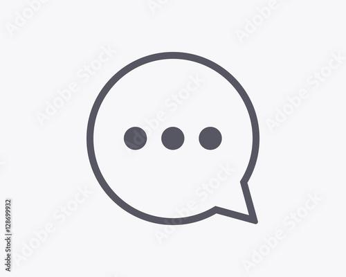 Fotografía  Comment Icon - Vector illustration