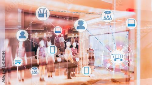 Fotomural  Marketing Data mangement platform and Omnichannel concept image
