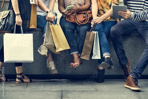 Fototapeta Group Of People Shopping Concept obraz