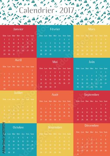 Calendrier 2017 Douze Mois An 2017 Calendar Design Modern