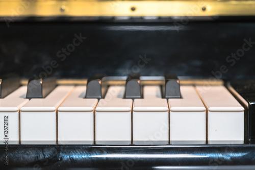 Fotografija  close-up of piano keys