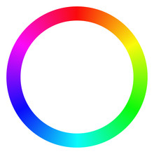 Isolated Gradient Rainbow Ring Color Palette