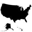 Карта Соединенных Штатов Америки. Без границ штатов. Векторная иллюстрация.