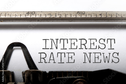 Fotografía  Interest rate news
