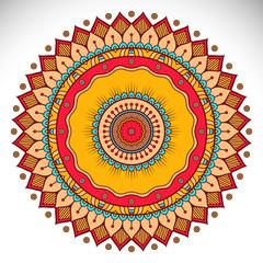 Panel Szklany Boho Vector indian Mandala