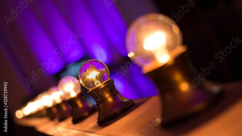 Photo  Light Bulbs On Stage